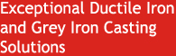 Exceptional Ductile Iron Casting Solutions